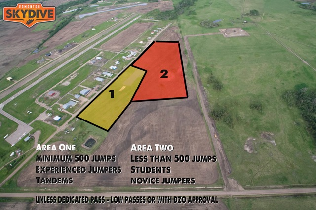 Edmonton Skydive_Dropzone_Zoned Landing Areas_July 2016